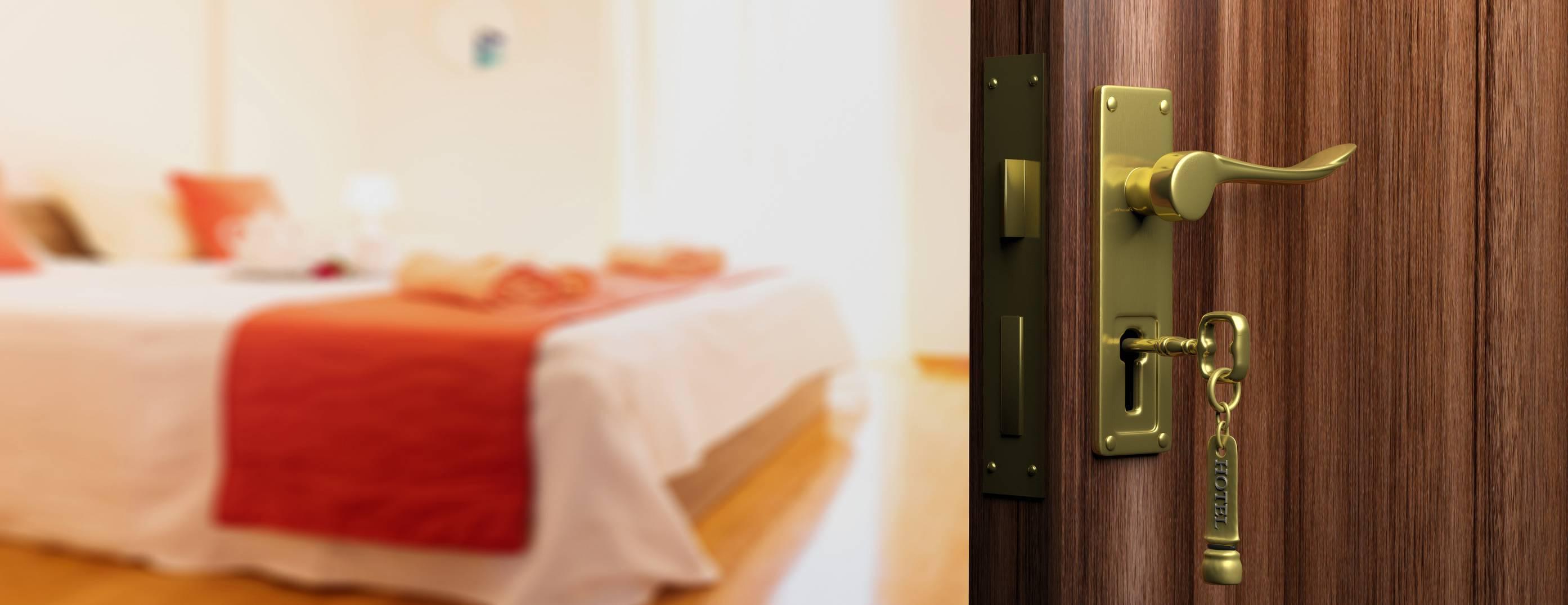 clé de chambre d'hôtel
